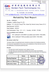 Environmental temperature test certification
